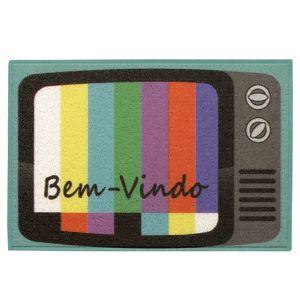 Capacho TV Bem Vindo Colorido 40x60cm