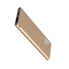 Carregador Portátil Power Bank USB 2,1A Slim 3000MAH Dourado Easy Mobile