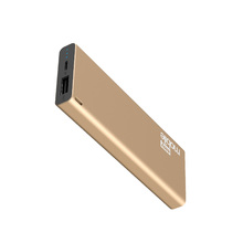 Carregador Portátil Power Bank USB 2,1A Slim 6000MAH Dourado Easy Mobile