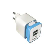 Carregador Turbo USB 2 Saídas 2,1A com Cabo USB Azul Easy Mobile
