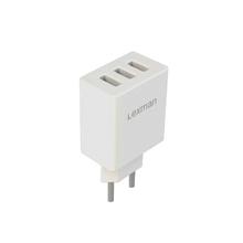 Carregador USB 3 Saidas 2,4A Branco Lexman
