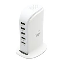 Carregador USB de Mesa 5 Portas ELG