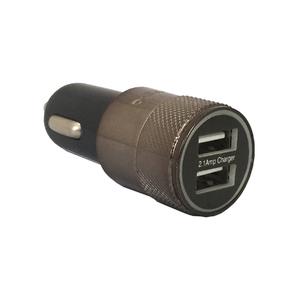 Carregador Veicular Duplo USB Cinza
