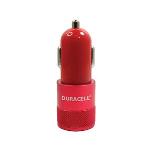 Carregador Veicular Duplo USB Vermelho