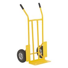 """Carrinho de Carga Armazém 300kg Ferro Pneumático 3,5"""" Amarelo"""