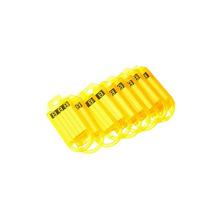 Cartela com 10 jogos de porta etiqueta amarelo 1917 Sr Fechaduras