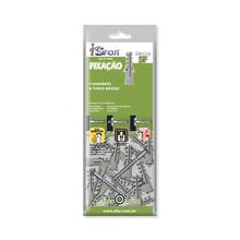 Cartela com 20 Buchas para Concreto e Alvenaria 5mm Nylon Sfor