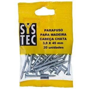 Cartela com 20 Parafusos 3,8mmx45mm