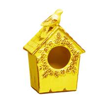 Casa de Pássaro Cerâmica 25cm Amarelo