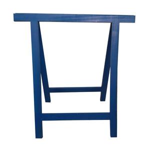 Cavalete para Móveis Dobrável até 150Kg Madeira de Reflorestamento Azul Massol