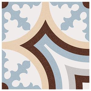 Cerâmica Hidráulica Borda Arredondada Acetinado Beltri Celeste 20x20cm Colormix