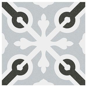Cerâmica Hidráulica Borda Arredondada Acetinado Llagostera Gris 20x20cm Colormix
