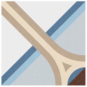 Cerâmica Hidráulica Borda Arredondada Acetinado Montaner Azul 20x20cm Colormix