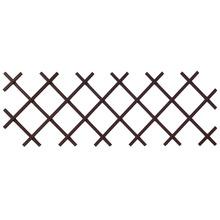 Cerca de PVC Treliça Pequena Marrom 46x70cm