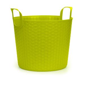 Cesto de Roupa Plástico Amarelo com Alça 36,5x41,5xcm Arthi