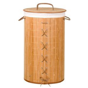 Cesto de Roupas Bambu Natural com Alça  Importado