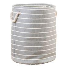 Cesto de Roupas com Fechadura Cinza 41x33x33cm Importado
