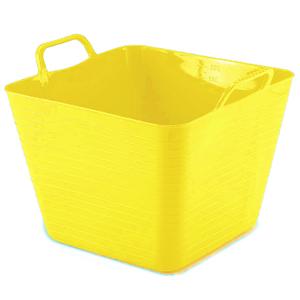 Cesto de Roupas Plástico Amarelo sem Alça 27,4x36,5x32,5cm Arthi