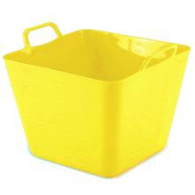 Cesto de Roupas Plástico Amarelo sem Alça 29,7x39x35,5cm Arthi