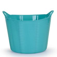 Cesto de Roupas Plástico azul com Alça 31x38x38cm Flex Arthi