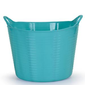 Cesto de Roupas Plástico Azul com Alça 28,5x35,5x35,5cm Flex Arthi