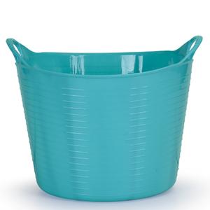 Cesto de Roupas Plástico Azul com Alça 29x43x43cm Flex Arthi
