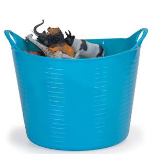 Cesto de Roupas Plástico Azul com Alça 28x40x40cm Flex Arthi