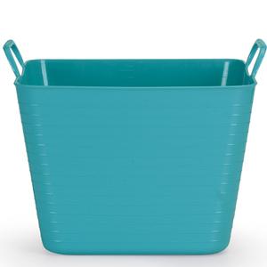 Cesto de Roupas Plástico Azul com Alça 27x36,5x32,5cm Flex Arthi
