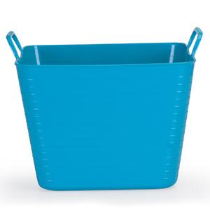 Cesto de Roupas Plástico Azul com Alça 37x47x47cm Flex Arthi