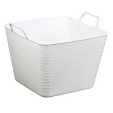 Cesto de Roupas Plástico Branco com Alça 27,40x36,50x32,50cm  Arthi