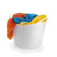 Cesto de Roupas Plástico Branco 29x43x43cm Arthi