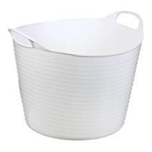 Cesto de Roupas Plástico Branco com Alça 35x29x35cm  Arthi