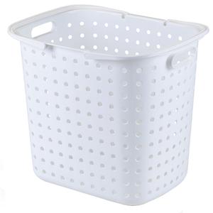 Cesto de Roupas Plástico Branco com Alça 37x42x30cm Secalux