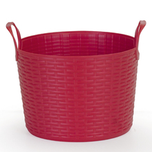 Cesto de Roupas Plástico Vermelho com Alça 36x36x41,5cm Flex Arthi