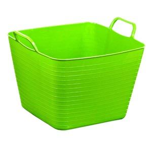Cesto de Roupas Plástico Verde com Alça 27,40x36,50x32,50cm  Arthi