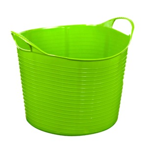 Cesto de Roupas Plástico Verde com Alça 35x29x35cm  Arthi