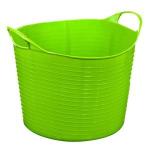 Cesto de Roupas Plástico Verde com Alça 38x31x38cm  Arthi