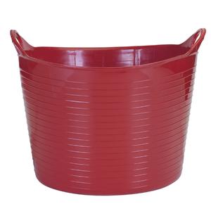 Cesto de Roupas Plástico Vermelho com Alça 27x36,5x32,5cm Flex Arthi