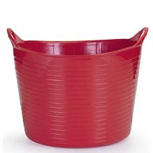 Cesto de Roupas Plástico Vermelho com Alça 29x43x43cm Flex Arthi
