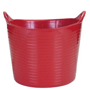 Cesto de Roupas Plástico Vermelho com Alça 28x40x40cm Flex Arthi