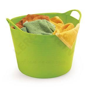Cesto Multiuso (Flexível ) 30 Litros em plástico pp- Redondo - Verde 40x 28- Arthi