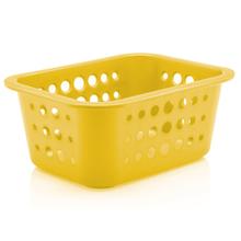 Cesto Organizador  Plástico Amarelo 1,3L 8x18,5x14,5cm Organize Martiplast
