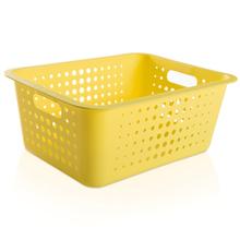 Cesto Organizador  Plástico Amarelo 14,2L 16,5x41x31cm Organize Martiplast