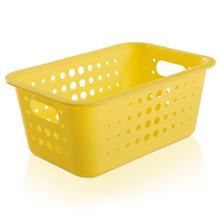 Cesto Organizador  Plástico Amarelo 4,5L 12,5x29x19,5cm Organize Martiplast