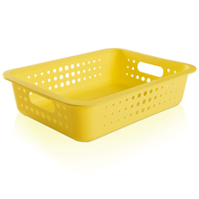 Cesto Organizador  Plástico Amarelo 8,8L 10x41x31cm Organize Martiplast