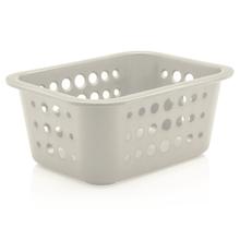 Cesto Organizador  Plástico Branco 1,3L 8x18,5x14,5cm Organize Martiplast