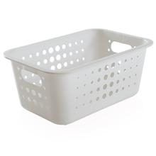 Cesto Organizador  Plástico Branco 4,5L 12,5x29x19,5cm Organize Martiplast