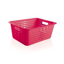 Cesto Organizador  Plástico Pink 14,2L 16,5x41x31cm Organize Martiplast