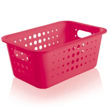 Cesto Organizador  Plástico Pink 4,5L 12,5x29x19,5cm Organize Martiplast