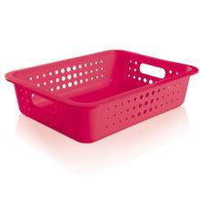 Cesto Organizador  Plástico Pink 8,8L 10x41x31cm Organize Martiplast
